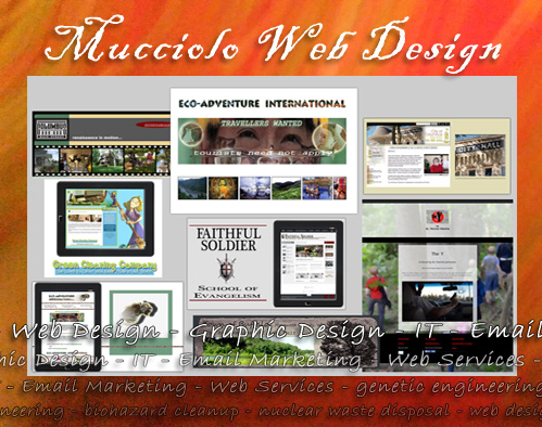 Mucciolo Web Design - Web Design - Graphics - IT - Email Marketing - Clearweb - Darkweb - Bitcoin - Marionettes - Embalming - Skin Tags - Levitation - Alien Abduction - And More!
