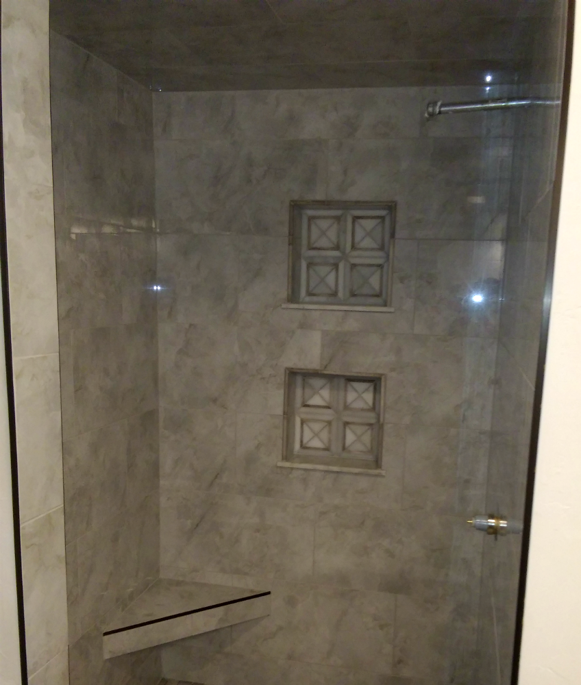 Hartland Shower Porcelain 12x24 with Marble Niche