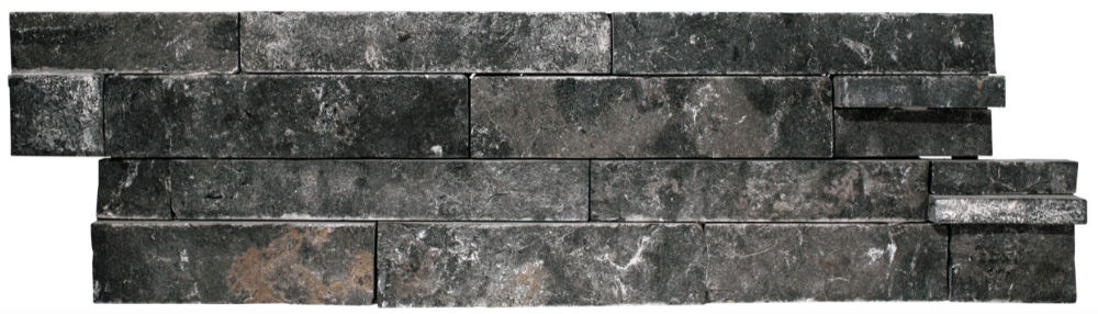 Charcoal Hue Travertine architectural stacked stone